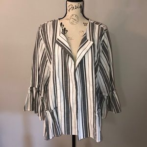 AUGUST SILK WOMAN Ruffle Hem Blazer Jacket 3X